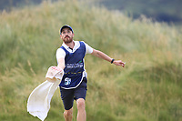 Haydn Porteous (RSA) caddy catching a ball on the 7th green during Round 3 of the Dubai Duty Free Irish Open at Ballyliffin Golf Club, Donegal on Saturday 7th July 2018.<br /> Picture:  Thos Caffrey / Golffile