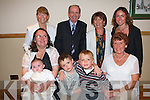 BABY JOY: Proud mother Christina Larkin, Balloonagh with her little bundle of joy baby Alivla celebrating her Christening with family and friends at Kerins O'Rahilly's clubhouse on Sunday seated l-r: Christina and Alivla Larkin, Calum and Evan Brennan and Betty O'Sullivan. Back l-r: Girlie Larkin, Charlie and Mary McBride and Celia Larkin.   Copyright Kerry's Eye 2008
