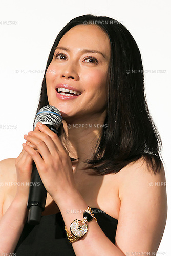 Actress Miki Nakatani speaks during a stage greeting for the movie ''FOUJITA'' at TOHO CINEMAS in Roppongi on October 26, 2015, Tokyo, Japan. After a 10 year gap since his last film, Kohei Oguri returns as director, screenplay writer and co-producer of the movie which will be released in Japanese theaters on November 14. Foujita tells the story of Japanese artist Tsuguharu Foujita who moved to Paris in the 1920s. The screening is part of the 28th Tokyo International Film Festival which is one of the biggest film festivals in Asia and runs from October 22 to Saturday 31. (Photo by Rodrigo Reyes Marin/AFLO)