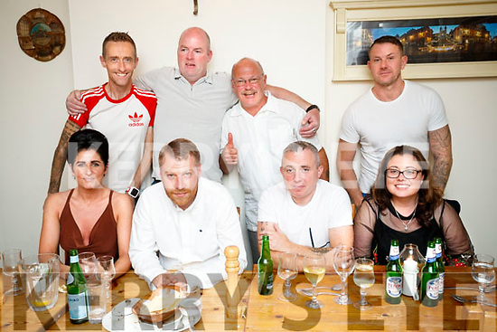 Shane Hannafin, Tralee who celebrated his 34th Birthday in Bella Bia on Saturday night, Front from left: Catherine O'Sullivan, Shane Hannafin, Anthony O'Sullivan and Lisa Hickey. Back from left: Ollie O'Sullivan, Paul Murphy, Mike Dolan and Mark Morressey.
