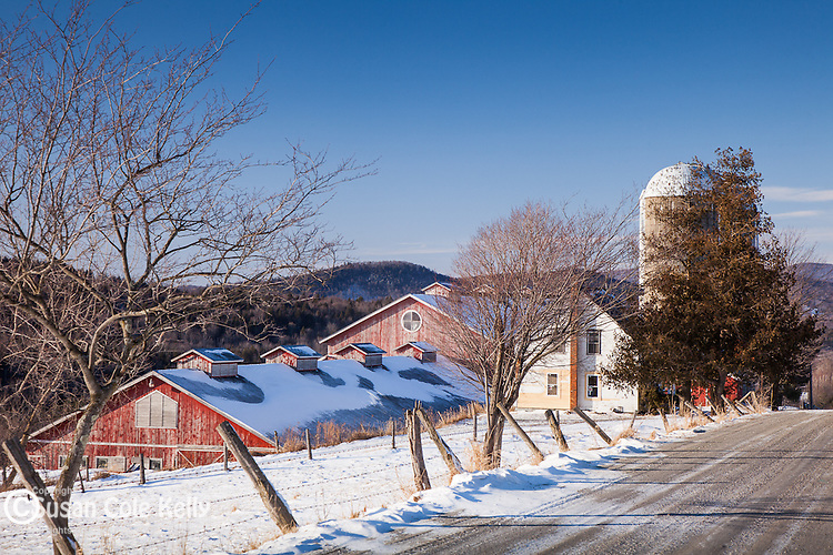 A Lamoille Valley farm in Cambridge, VT, USA