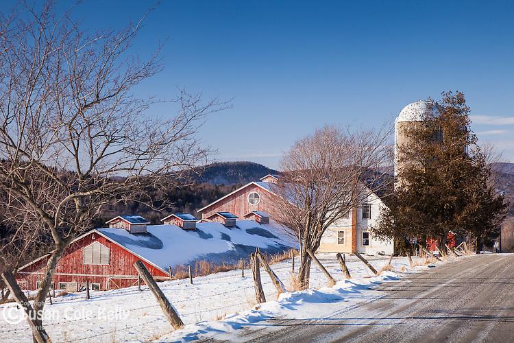 A Lamoille Valley farm in Cambridge, VT, USA