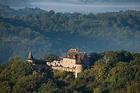 Europe/Europe/France/Midi-Pyrénées/46/Lot/Mayrinhac-Lentour: Le Château de Lentour  - Vue aérienne