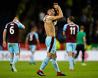 Burnley's Phil Bardsley applauds the fans after the final whistle<br /> <br /> Photographer Alex Dodd/CameraSport<br /> <br /> UEFA Europa League - UEFA Europa League Qualifying Second Leg 2 - Burnley v Olympiakos - Thursday August 30th 2018 - Turf Moor - Burnley<br />  <br /> World Copyright © 2018 CameraSport. All rights reserved. 43 Linden Ave. Countesthorpe. Leicester. England. LE8 5PG - Tel: +44 (0) 116 277 4147 - admin@camerasport.com - www.camerasport.com