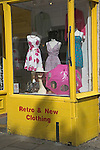 Retro second hand clothes shop, Walcot Street, Bath, England