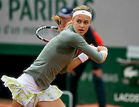 France, Paris, 28.05.2014. Tennis, French Open, Roland Garros, Anna Schmiedlova (SVK) in her match against Venus Williams (USA)<br /> Photo:Tennisimages/Henk Koster