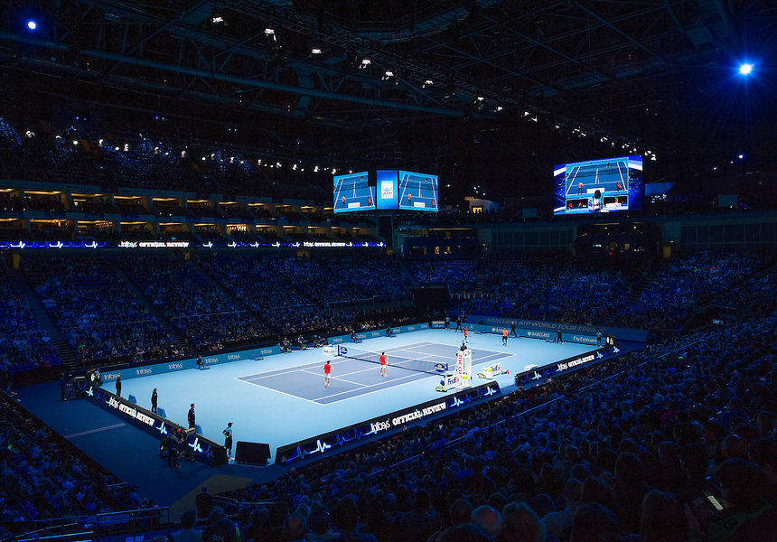 A general view of the O2 Arena, venue for the Barclays ATP World Tour Finals<br /> <br /> Photographer Ashley Western/CameraSport<br /> <br /> International Tennis - Barclays ATP World Tour Finals - O2 Arena - London - Day 1 - Sunday 15th November 2015<br /> <br /> &copy; CameraSport - 43 Linden Ave. Countesthorpe. Leicester. England. LE8 5PG - Tel: +44 (0) 116 277 4147 - admin@camerasport.com - www.camerasport.com