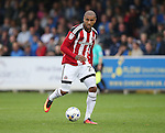 Sheffield United's Leon Clarke in action during the League One match at the Kingsmeadow Stadium, London. Picture date: September 10th, 2016. Pic David Klein/Sportimage