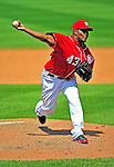 7 June 2009: Washington Nationals' pitcher Jesus Colome on the mound in relief against the New York Mets at Nationals Park in Washington, DC. The Mets shut out the Nationals 7-0 to take the third game of the weekend series. Mandatory Credit: Ed Wolfstein Photo
