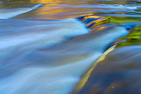 MI, Michigan, detail, abstract, water, flow, whitewater, reflection, reflecting, color, stream