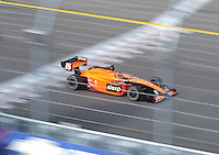 Jun. 21, 2008; Newton, IA, USA; Indy Light Series driver Dillon Battistini during the Jeld Wen 100 at the Iowa Speedway. Mandatory Credit: Mark J. Rebilas-