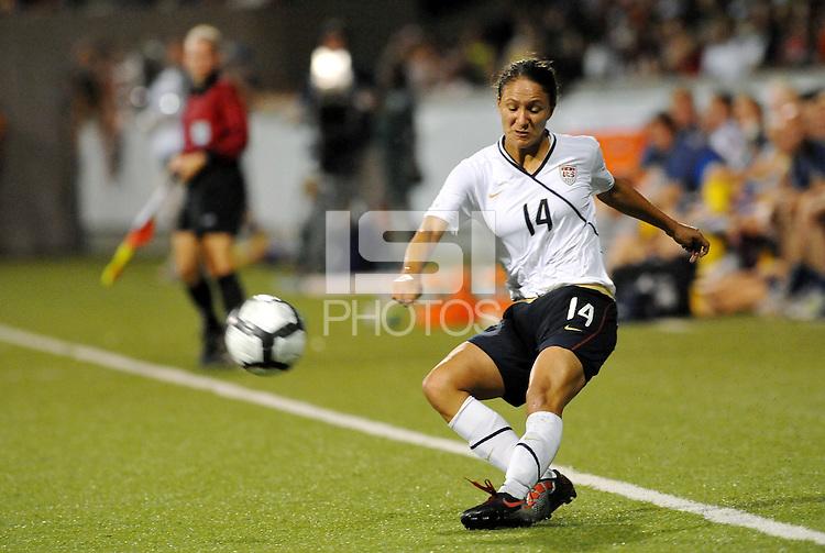 Stephanie Cox...USWNT tied Sweden 1-1 at Morison Stadium, Nebraska.