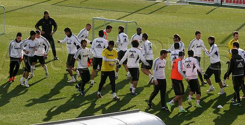06.01.2012 Valdebebas, Spain. Real Madrid training at Ciudad Deportiva de Valdebebas