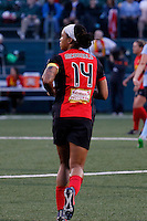 Rochester, NY - Saturday May 21, 2016: Western New York Flash forward Jessica McDonald (14). The Western New York Flash defeated Sky Blue FC 5-2 during a regular season National Women's Soccer League (NWSL) match at Sahlen's Stadium.