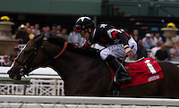 Joe Talamo getting his second win on the afternoon at Santa Anita Park in Arcadia, California on October 20, 2012.