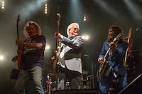 Photo by &copy; Stephen Daniels 13/06/2015-----<br /> Rock 'N' Horse Power Concert at Hurtwood Park Polo Club, Ewhurst, Surrey for Prostate Cancer UK.<br /> L/R Geoff Whitehorn, Jim Cregan, Ben Mills