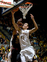 David Kravish of California shoots the ball during the game against USC at Haas Pavilion in Berkeley, California on February 17th, 2013.  California defeated USC, 76-68.