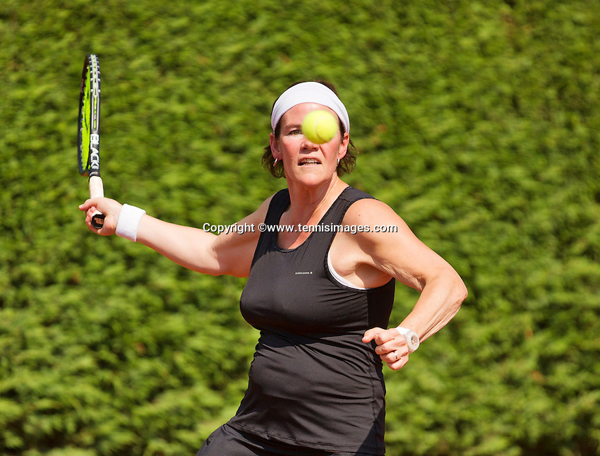 Netherlands, Amstelveen, August 22, 2015, Tennis,  National Veteran Championships, NVK, TV de Kegel,  Lady's 40+, Eva Haslinghuis<br /> Photo: Tennisimages/Henk Koster
