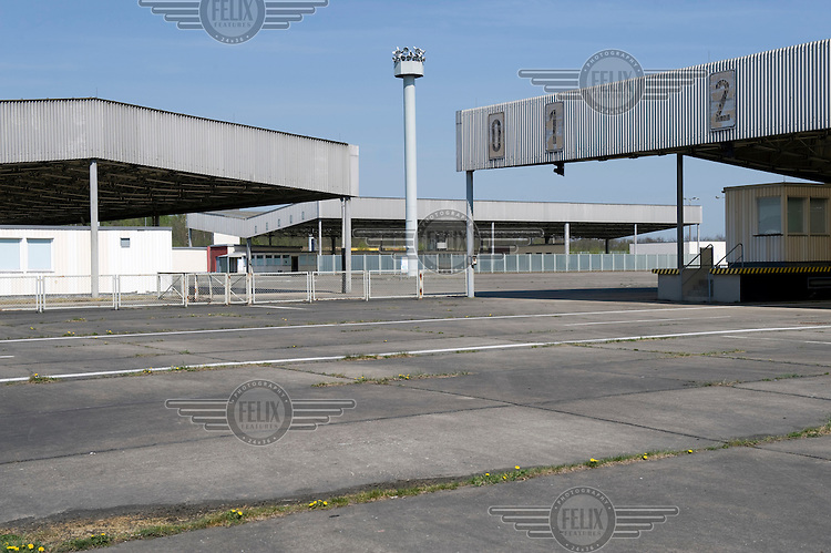 The former border crossing between the eastern GDR (German Democratic Republic) and West Germany at the checkpoint of Helmstedt-Marienborn.