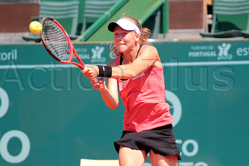 28.04.2011 Estoril Open Portugal...Johanna LARSSON (SWE) playing against Alla KUDRYAVTSEVA (RUS)