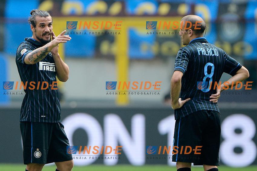 Daniel Pablo Osvaldo, Rodrigo Palacio Inter<br /> Milano 28-09-2014 Stadio Giuseppe Meazza - Football Calcio Serie A Inter - Cagliari. Foto Giuseppe Celeste / Insidefoto