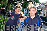 Tadhg Hurley (Tralee), Mark McGovern (Dublin) and Niall Hurley(Tralee) waiting for Jedward at Denny Street stage on Friday.