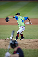 Las Ardillas Voladoras de Richmond pitcher Alfred Gutierrez (54) during an Eastern League game against the Erie Piñatas on August 28, 2019 at UPMC Park in Erie, Pennsylvania.  Richmond defeated Erie 4-3 in the second game of a doubleheader.  (Mike Janes/Four Seam Images)