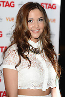 """Jaqueline Jossa arrives for the premiere of """"The Stag"""" at the Vue Leicester Square, London. 13/03/2014 Picture by: Steve Vas / Featureflash"""