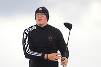 Tom Plumb from England on the 5th tee during Round 3 Singles of the Men's Home Internationals 2018 at Conwy Golf Club, Conwy, Wales on Friday 14th September 2018.<br /> Picture: Thos Caffrey / Golffile<br /> <br /> All photo usage must carry mandatory copyright credit (&copy; Golffile | Thos Caffrey)