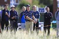 John Augenstein (USA) on the 17th tee during the Foursomes at the Walker Cup, Royal Liverpool Golf CLub, Hoylake, Cheshire, England. 07/09/2019.<br /> Picture Thos Caffrey / Golffile.ie<br /> <br /> All photo usage must carry mandatory copyright credit (© Golffile | Thos Caffrey)