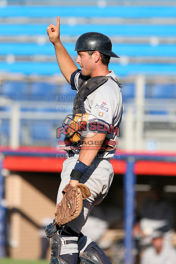 Staten Island Yankees Francisco Cervelli during a NY-Penn League game at Russell Diethrick Park on August 13, 2006 in Jamestown, New York.  (Mike Janes/Four Seam Images)