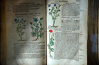 Old herbal remedy recipe book. The Old Pharmacy museum  - Sopron, Hungary