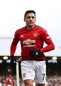 9th February 2019, Craven Cottage, London, England; EPL Premier League football, Fulham versus Manchester United; Alexis Sanchez of Manchester United looking on
