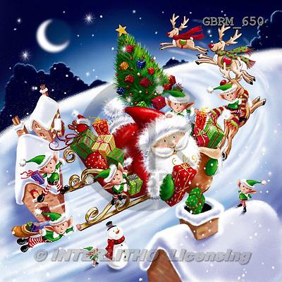 Roger, CHRISTMAS SANTA, SNOWMAN, paintings+++++,GBRM650,#X#