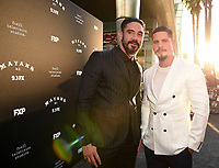 "LOS ANGELES - AUGUST 27: Clayton Cardenas (L) and JD Pardo attend the season two red carpet premiere of FX's ""Mayans M.C"" at the ArcLight Dome on August 27, 2019 in Los Angeles, California. (Photo by Frank Micelotta/FX/PictureGroup)"