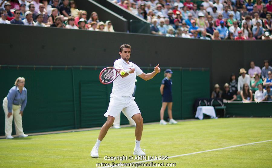 MARIN CILIC (CRO)<br /> <br /> TENNIS - THE CHAMPIONSHIPS - WIMBLEDON 2015 -  LONDON - ENGLAND - UNITED KINGDOM - ATP, WTA, ITF <br /> <br /> &copy; AMN IMAGES