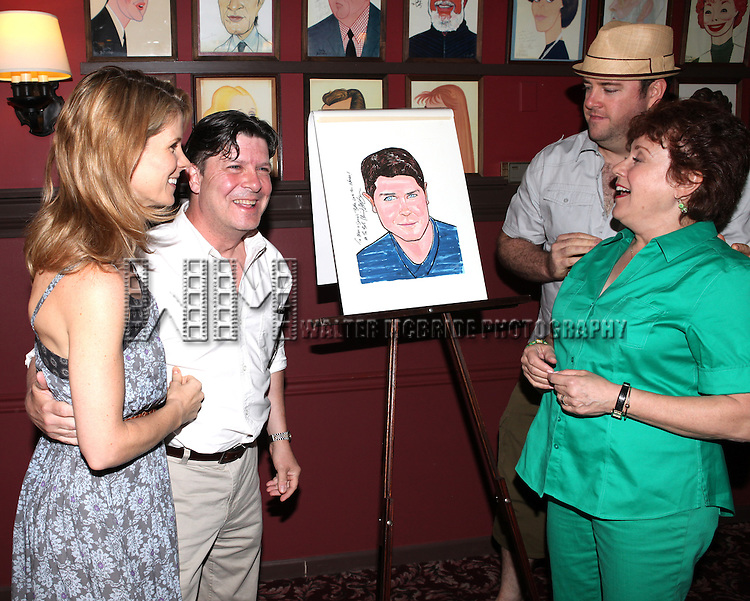 Kelli O'Hara, Michael McGrath, Michael Martin, Chris Sullivan, Judy Kaye .attending the unveiling of the Sardi's caricature for the Tony Award-winning star of 'Nice Work If You Can Get It', Michael McGrath on July 12, 2012 in New York City.