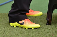 Pitch stewards wear boots during West Ham United vs Everton, Premier League Football at The London Stadium on 13th May 2018