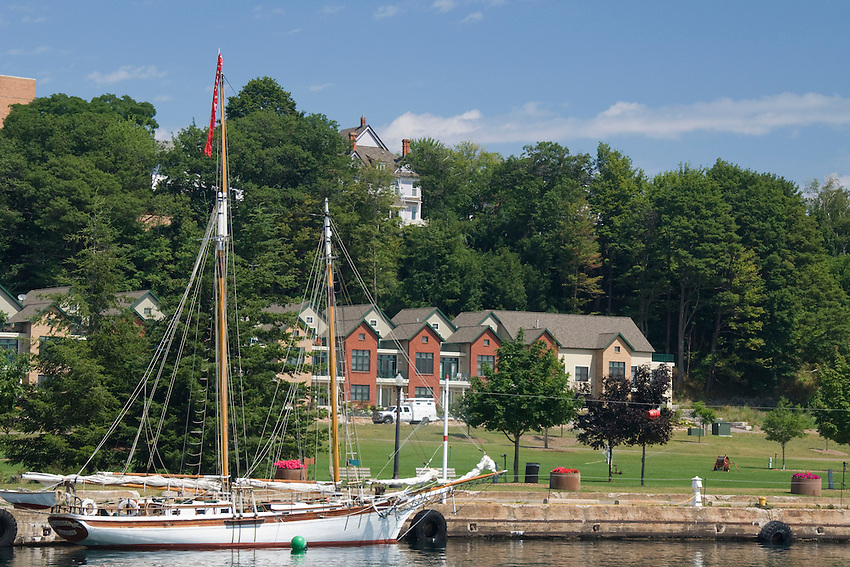 Sailboats in the lower harbor of Marquette Michigan.