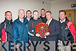 Chapter 23 credit union sponsored County league division 5 winners, Fossa, were presented with their shield last Sunday evening in the Kerin's O'Rahillys GAA clubhouse, present were l-r: John Brosnan (selector), Christy Killeen (CU secretary), Tommy Cronin (club chairman), Anthony Wharton, Denis Reen (manager), Patrick O'Sullivan (chairman Kerry County Board) and Michael Clifford (selector).