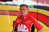 May 21, 2016; Topeka, KS, USA; NHRA top fuel driver Doug Kalitta during qualifying for the Kansas Nationals at Heartland Park Topeka. Mandatory Credit: Mark J. Rebilas-USA TODAY Sports