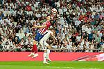 Real Madrid's Lucas Vazquez and Atletico de Madrid's Filipe Luis during La Liga match between Real Madrid and Atletico de Madrid at Santiago Bernabeu Stadium in Madrid, Spain. September 29, 2018. (ALTERPHOTOS/A. Perez Meca)