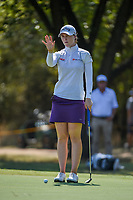 Brittany Altomare (USA) lines up her putt on 12 during the round 3 of the Volunteers of America Texas Classic, the Old American Golf Club, The Colony, Texas, USA. 10/5/2019.<br /> Picture: Golffile   Ken Murray<br /> <br /> <br /> All photo usage must carry mandatory copyright credit (© Golffile   Ken Murray)