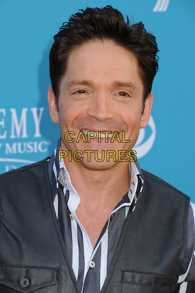 DAVE KOZ.45th Annual Academy Of Country Music Awards held at the MGM Grand Garden Arena, Las Vegas, NV, USA..April 18th, 2010.headshot portrait grey gray stripe white blue .CAP/ADM/BP.©Byron Purvis/AdMedia/Capital Pictures.
