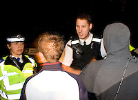 Police officers and community support officers talking to a group of teenagers UK. This image may only be used to portray the subject in a positive manner..©shoutpictures.com..john@shoutpictures.com