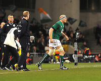 9th November 2013; Paul O'Connell, Ireland, comes on as a replacement. Autumn International Series, Ireland v Samoa, Aviva Stadium, Dublin. Picture credit: Tommy Grealy/actionshots.ie.
