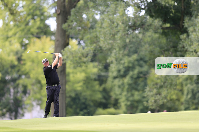 Darren Clarke (NIR) in action during Tuesday's Practice Day of the 95th US PGA Championship 2013 held at Oak Hills Country Club, Rochester, New York.<br /> 6th August 2013.<br /> Picture: Eoin Clarke www.golffile.ie