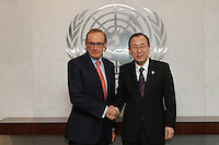 Visit to New York March 2013 by Australian Minister of Foreign Affairs Senator Bob Carr. - photo by Trevor Collens