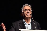 """ATENÇÃO EDITOR: FOTO EMBARGADA PARA VEÍCULOS INTERNACIONAIS. SAO PAULO, 18 DE SETEMBRO DE 2012 - REDE PENSE LIVRE POLITICA DE DROGAS - o ex presidente da Republica Fernado Henrique Cardoso durante apresentacao de programa da Rede """"Pense Livre - por uma politica de drogas que funcione"""" no auditorio do Itau Cultural, Avenida Paulista, na noite desta terca feira. FOTO: ALEXANDRE MOREIRA - BRAZIL PHOTO PRESS"""