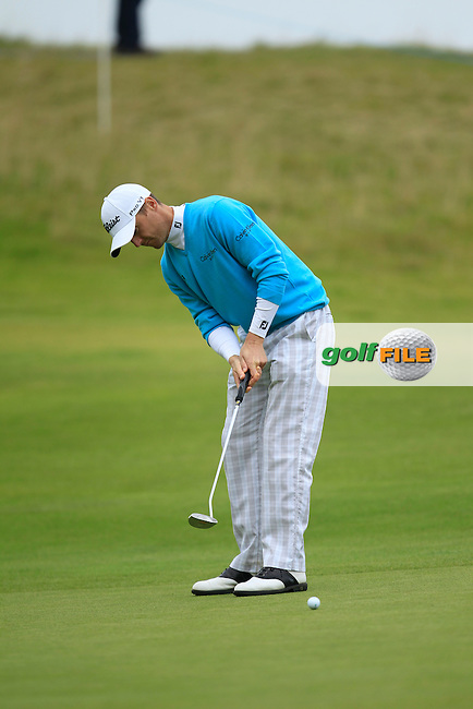 Michael Hoey (NIR) during Round 2 of the Alfred Dunhill Links Championship at Kingsbarns Golf Club on Friday 27th September 2013.<br /> Picture:  Thos Caffrey / www.golffile.ie